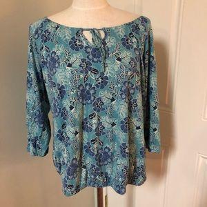 Off shoulder boho floral peasant blouse top